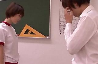 Young oriental schoolgirl blowing teacher - 5:48