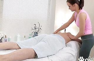 Horny little trollop fucks sucks her massage client - 29:22