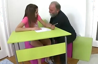Tricky Old Teacher Ulia is a sexy young student who is having school trouble - 5:58