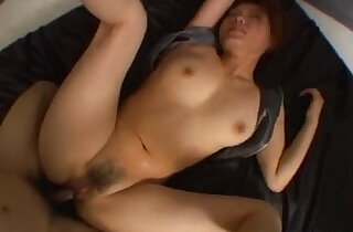 Hairy Japanese pussy is fucked really hard in a threesome - 7:58