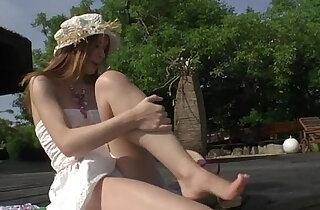 Horny Diamond and Rihanna ride Roccos shaft in nasty outdoor threesome - 5:41