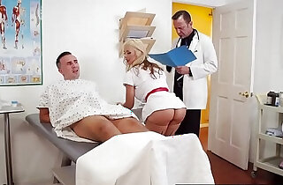 doctor adventures cum for nurse sarah scene starring sarah vandella and keiran lee - 8:42