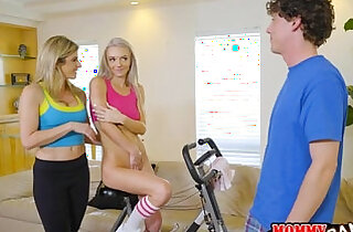MILF and stepson with sexy teen neighbor - 6:14