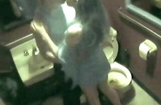 Spying my sister having fun with boy friend in toilet - 6:23