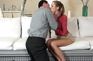 Step dad screwing Molly Mansons shaved pussy - 7:02