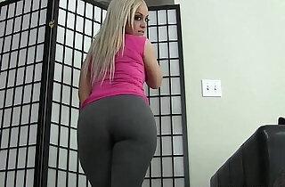 You can jerk your big cock to me in my skin tight yoga pants JOI - 11:10