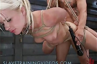 Bound blonde ass whipped and fucked - 9:12