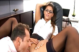 Pretty secretary fucked in stockings and a garter - 6:27
