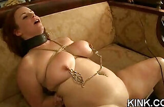 Huge tits, submissive housewife, dominated, bound - 5:56