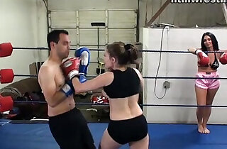 Femdom Boxing Beatdowns Wimp Gets Dominated - 12:02