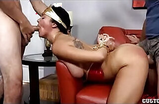 father and brother forced and fucked tied Brooke Benson in The Violation of Wunder Boobs Superheroine Adi Adip Porn. - 29:46