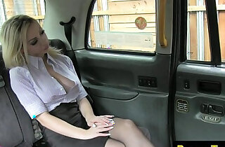 Busty taxi passenger spanked and fucked - 11:39