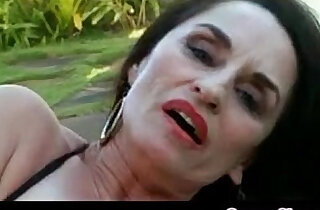 Granny Fingering Her Pussy Outdoors - 12:55