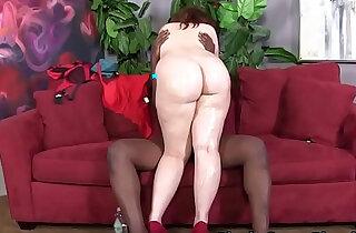 Curvy redhead gets interracial - 11:03