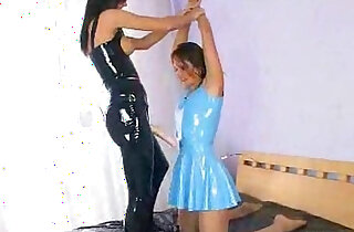 latex lesbians fucking with strapons - 20:33
