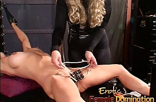 Two horny lezzies enjoy some naughty and kinky dungeon fun - 30:39