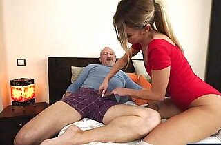 Russian Katrin Tequila banged in her pussy by horny grandpa - 6:00