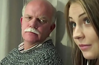 Old Young Porn Teen Gangbang by Grandpas pussy fingering gagging - 7:22