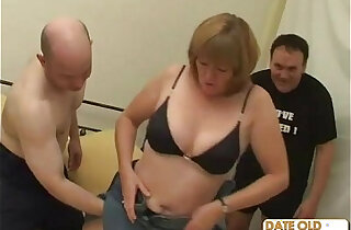 Old grandma pounded and fucked by two old guys - 19:11