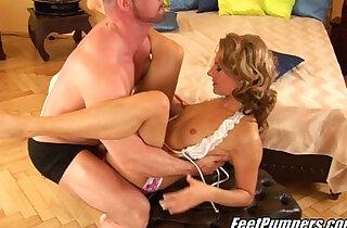 Sexy Thin Blonde Footjob - 32:03
