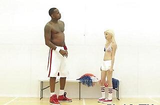 BBC loving cheerleader railed by black guy - 6:53