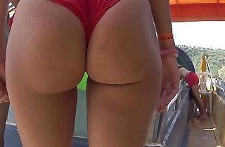 Bikini Thong Latina Big Ass Close Ups Beach Voyeur - 14:54