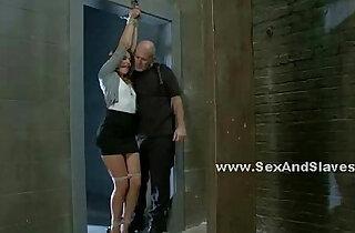 Teen slut gets tied up in a doctor office - 5:06