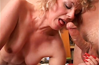 Cute Crystal is a cock for hungry old spunker who loves the taste of cum - 22:51
