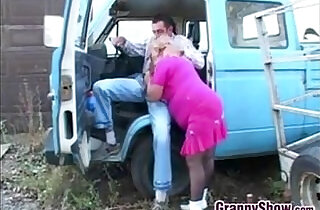 Fat Granny In Pink Fucking Outdoors - 16:20