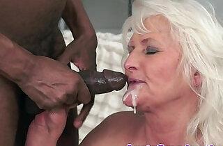 Interracially fucked granny loves to cumplay - 6:26