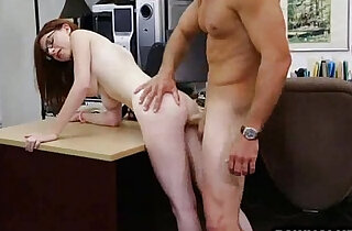 Geeky brunette babe getting ass fucked at the pawn shop - 8:04