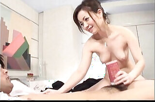 Hot Japanese MILF toys with her lovers cock - 7:37