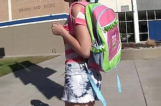 WANKZ Hot Emo Schoolgirl Alexis Eats Her Teachers Spunk - 5:17
