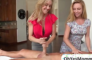MILF Brandi has an erotic massage and ends in threesome session with Taylor - 6:40