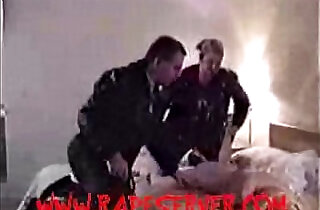 Blonde Forced, Whipped and Spanked by Two Guys after Shower - 49:46
