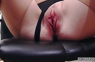 European coed Sindy Black masturbates in torn pantyhose - 6:45