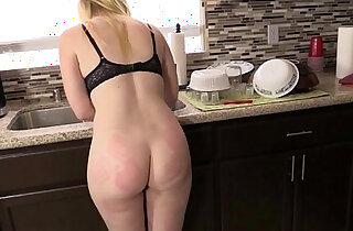 Spanking and Foot Worship on the Counter - 3:21