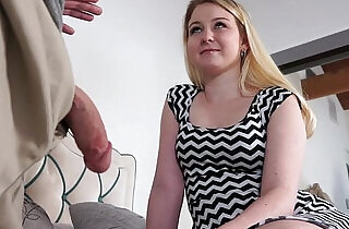 Sophie Sativa bends over for a dad drilling doggystyle - 6:52