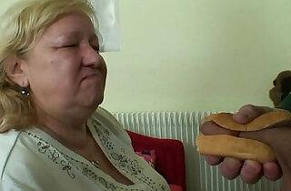 Busty granny tastes yummy cock - 6:07