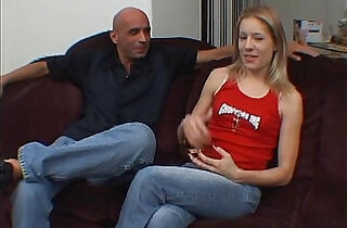 EasyDater Blond on a blind date get an unexpected creampie and freaks out - 19:14