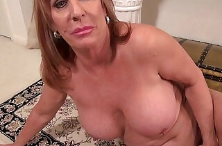Big titted Mature mom on the rug in dress - 10:11
